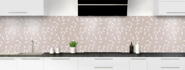 Crédence de cuisine Rideau de feuilles couleur argile panoramique