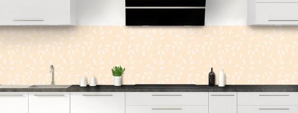 Crédence de cuisine Rideau de feuilles couleur sable panoramique