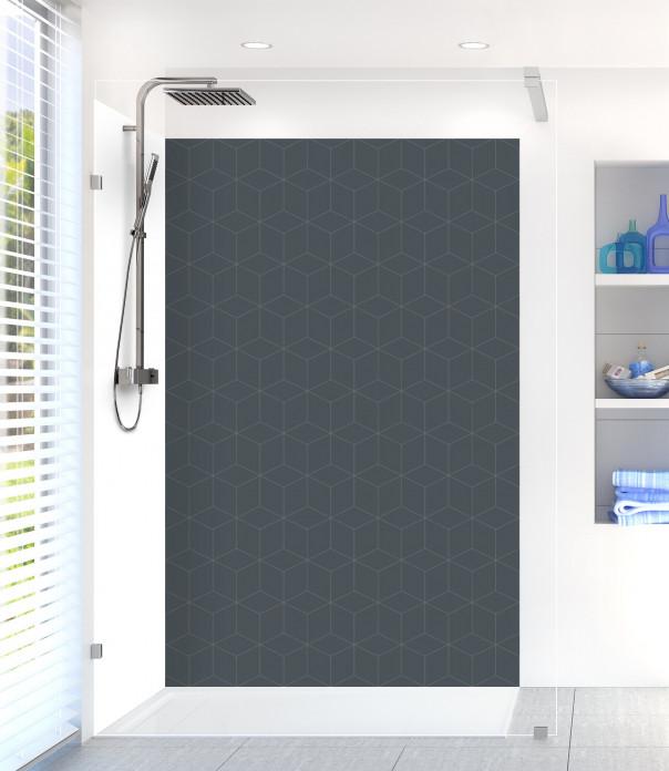 Panneau de douche Cubes en relief couleur gris carbone