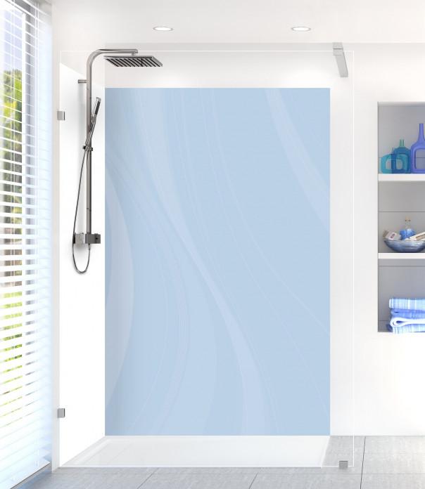 Panneau de douche Voilage couleur bleu azur