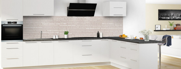 Crédence de cuisine Recettes de cuisine couleur argile panoramique en perspective