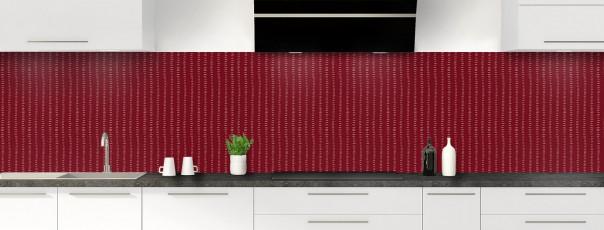 Crédence de cuisine Pointillés couleur rouge pourpre panoramique