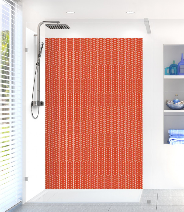 Panneau de douche Origami  couleur rouge brique