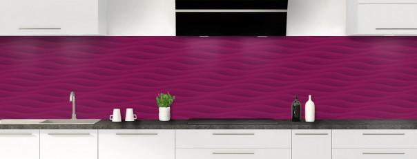 Crédence de cuisine Ondes couleur prune panoramique
