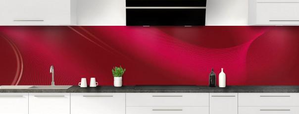 Crédence de cuisine Volute couleur rouge pourpre panoramique motif inversé