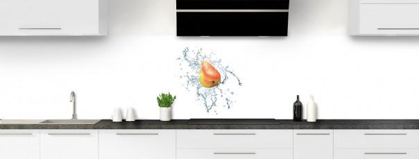 Crédence de cuisine Aqua et poire panoramique