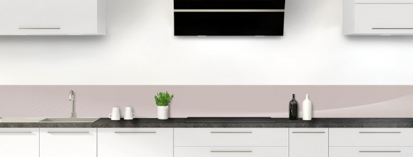 Crédence de cuisine Ombre et lumière couleur argile dosseret motif inversé