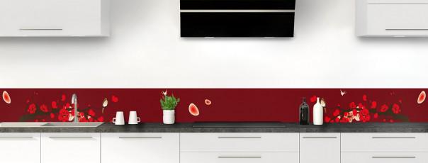 Crédence de cuisine Cerisier japonnais couleur rouge pourpre dosseret