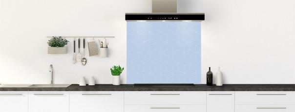 Crédence de cuisine Cubes en relief couleur bleu azur fond de hotte