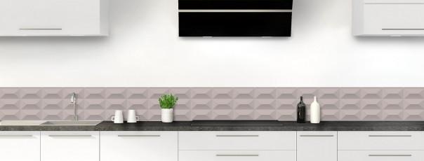 Crédence de cuisine Briques en relief couleur argile dosseret