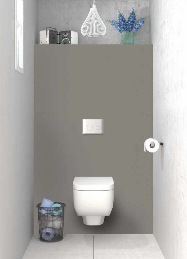 Panneau WC Taupe satin