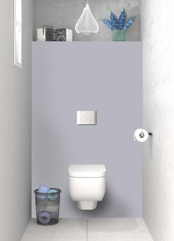Panneau WC Gris Métal