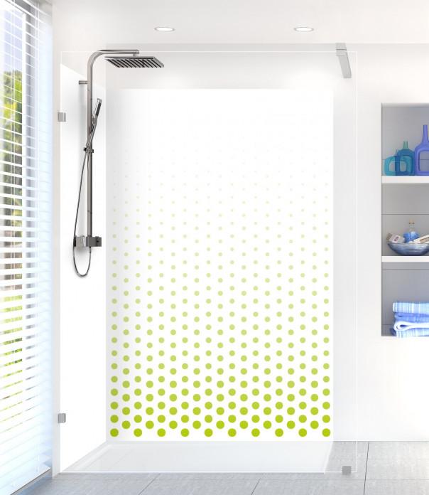 Panneau de douche Pluie de points couleur vert olive
