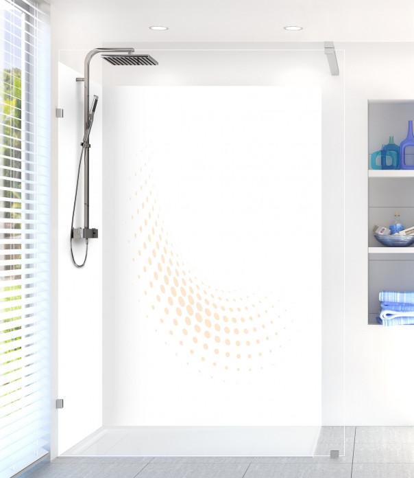 Panneau de douche Nuage de points couleur sable