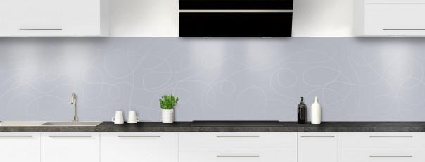 Crédence de cuisine Gribouillis couleur gris métal panoramique