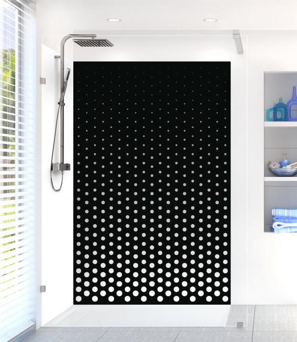 Panneau de douche Pluie de points couleur blanc