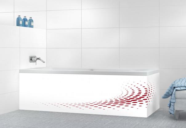 Panneau tablier de bain Nuage de points couleur rouge carmin