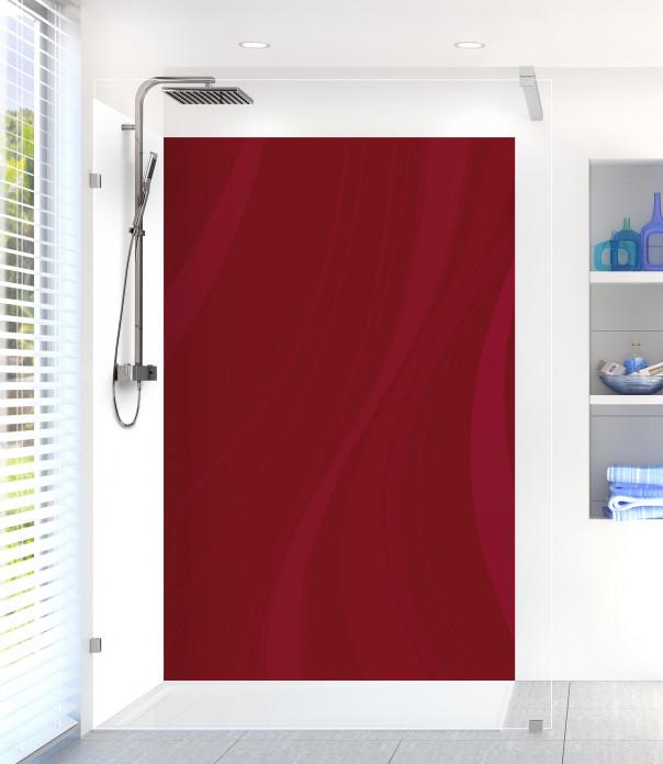 Panneau de douche Voilage couleur rouge pourpre motif inversé