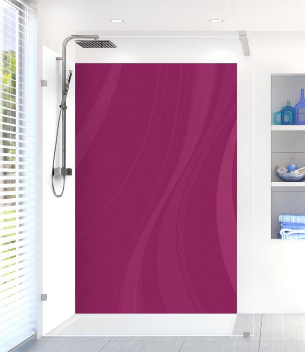 Panneau de douche Voilage couleur prune motif inversé