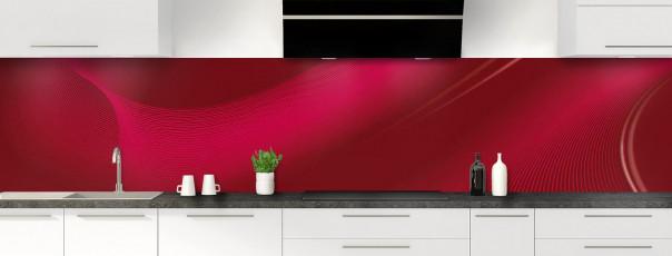 Crédence de cuisine Volute couleur rouge pourpre panoramique