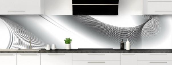 Crédence de cuisine Volute couleur blanc panoramique motif inversé