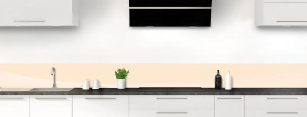 Crédence de cuisine Ombre et lumière couleur sable dosseret