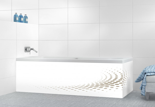Panneau tablier de bain Nuage de points couleur marron glacé
