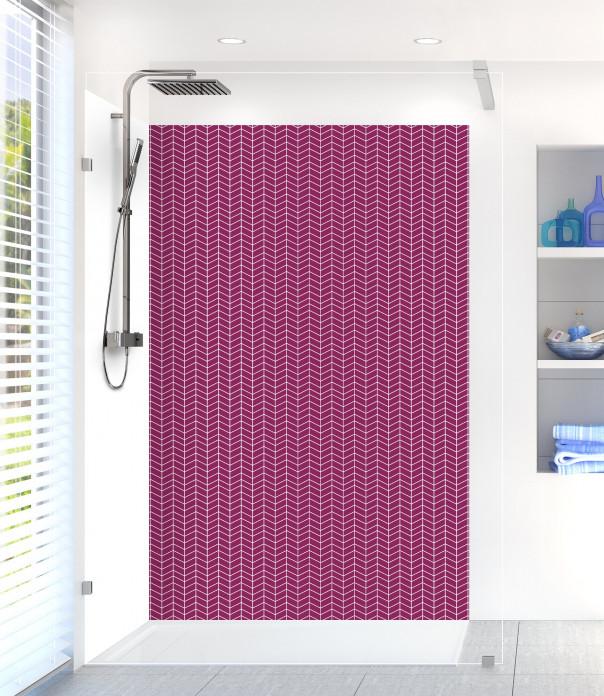 Panneau de douche Origami  couleur prune