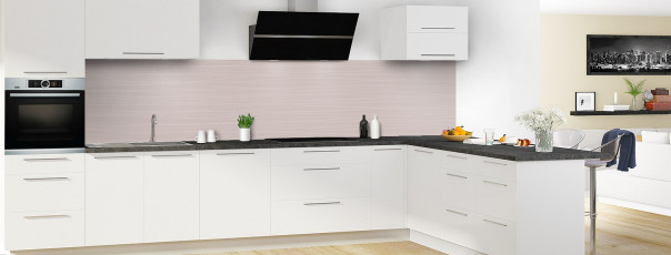 Crédence de cuisine Lignes horizontales couleur argile panoramique en perspective