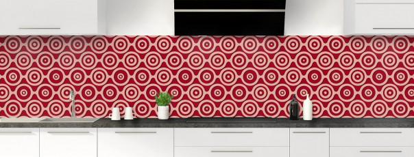 Crédence de cuisine Papier peint rétro couleur rouge carmin panoramique