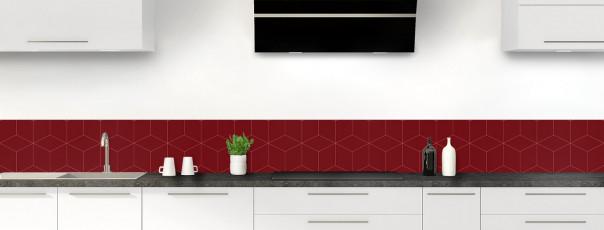 Crédence de cuisine Cubes en relief couleur rouge pourpre dosseret