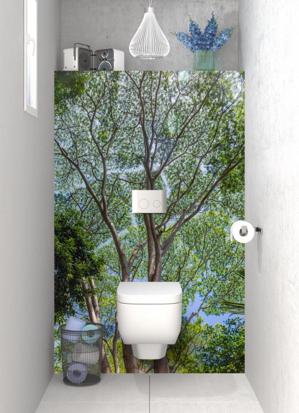 Panneau WC Arbres timides