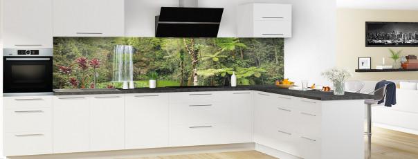 Crédence de cuisine Cascade tropicale panoramique en perspective