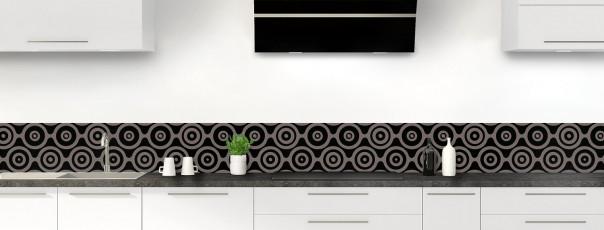 Crédence de cuisine Papier peint rétro couleur noir dosseret