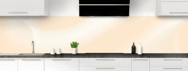Crédence de cuisine Volute couleur sable panoramique