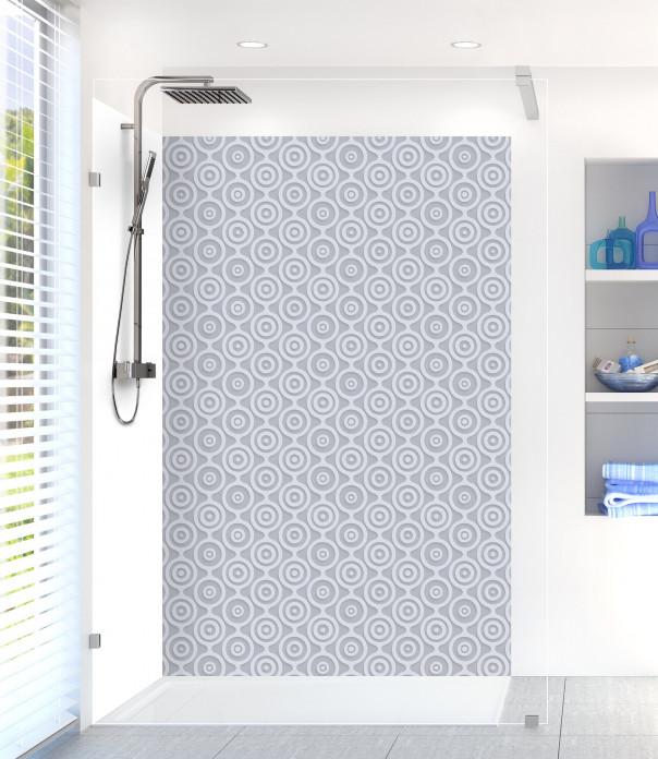 Panneau de douche Papier peint rétro couleur gris métal