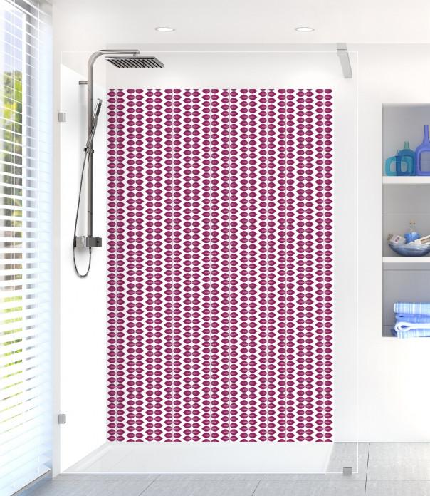 Panneau de douche Petites Feuilles  couleur prune