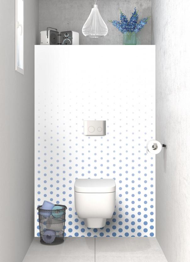 Panneau WC Pluie de points couleur bleu lavande