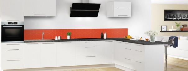 Crédence de cuisine Cubes en relief couleur rouge brique dosseret en perspective