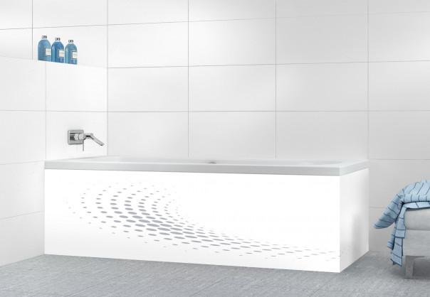 Panneau tablier de bain Nuage de points couleur gris métal motif inversé