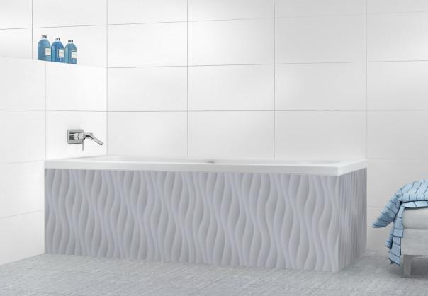 Panneau tablier de bain Ondes couleur gris métal