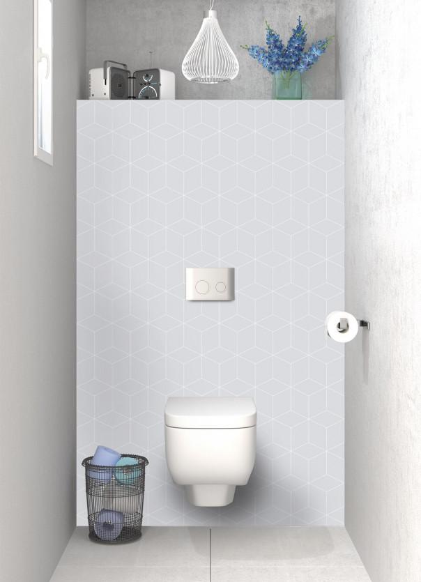 Panneau WC Cubes en relief couleur gris clair