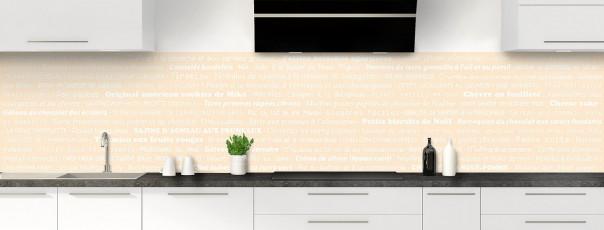 Crédence de cuisine Recettes de cuisine couleur sable panoramique