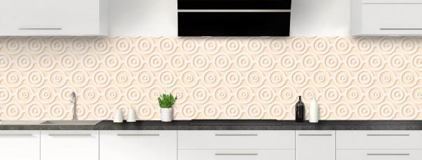Crédence de cuisine Papier peint rétro couleur sable panoramique