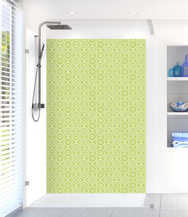 Panneau de douche Papier peint rétro couleur vert olive