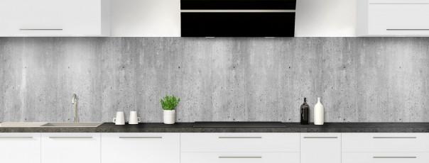 Crédence de cuisine Mur en béton panoramique