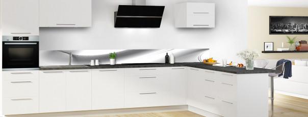 Crédence de cuisine Volute couleur blanc dosseret en perspective