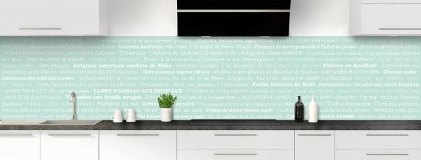 Crédence de cuisine Recettes de cuisine couleur vert pastel panoramique
