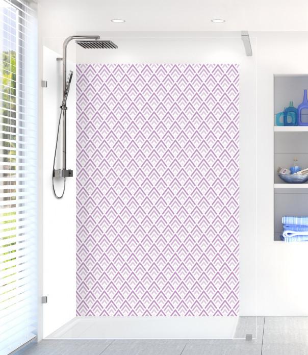 Panneau de douche Ecailles  couleur parme
