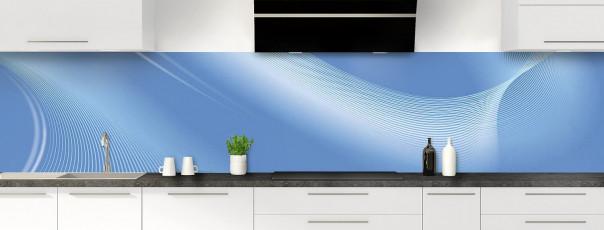 Crédence de cuisine Volute couleur bleu lavande panoramique motif inversé